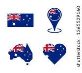set of australian national... | Shutterstock .eps vector #1365529160