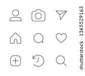 social media interface set...