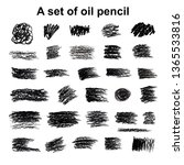 big collection of brushes hand... | Shutterstock . vector #1365533816