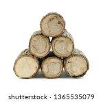 Firewood Isolated On White. Oak ...