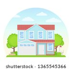 house exterior. vector. home... | Shutterstock .eps vector #1365545366