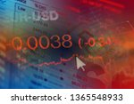 financial data on a monitor.... | Shutterstock . vector #1365548933