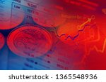 financial data on a monitor.... | Shutterstock . vector #1365548936