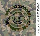 democrat on camouflaged texture | Shutterstock .eps vector #1365550166