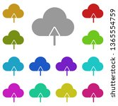 cloud up arrow multi color icon....