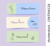 cute easter banners with... | Shutterstock .eps vector #1365566126