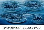 ripples on sea abstract texture ... | Shutterstock . vector #1365571970