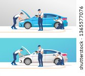 car service and repair. vector... | Shutterstock .eps vector #1365577076