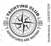 yacht club badge. vector... | Shutterstock .eps vector #1365597329