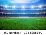 soccer stadium with... | Shutterstock . vector #1365606950