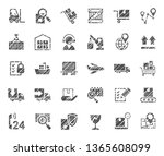 shipping  flat badges  pencil... | Shutterstock .eps vector #1365608099