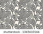 vector seamless pattern. modern ... | Shutterstock .eps vector #1365610166