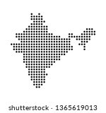 dot map of india | Shutterstock .eps vector #1365619013