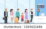 people in queue  check in... | Shutterstock .eps vector #1365621686