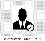 business man  edit user icon ... | Shutterstock .eps vector #1365627503