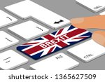 brexit concept   computer or... | Shutterstock .eps vector #1365627509