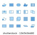 carpet cleaning flat line icons ... | Shutterstock .eps vector #1365636680