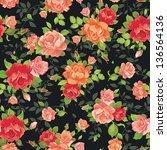 elegance tiny rose      s... | Shutterstock .eps vector #136564136