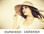 portrair of a beautiful... | Shutterstock . vector #136564364
