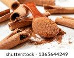 wooden scoop with ground...   Shutterstock . vector #1365644249