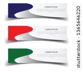 vector abstract banner design...   Shutterstock .eps vector #1365646220