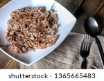 raditional italian risotto with ...   Shutterstock . vector #1365665483