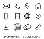 set of contact icons isolated...