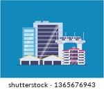 city infrastructure development.... | Shutterstock .eps vector #1365676943