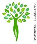 tree human happy suitable for... | Shutterstock .eps vector #1365685790