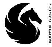 pegasus black design suitable... | Shutterstock .eps vector #1365685796