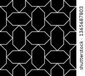 seamless pattern. stars ... | Shutterstock .eps vector #1365687803