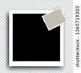 retro realistic photo frame... | Shutterstock .eps vector #1365719303