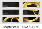 banners with abstract metal... | Shutterstock .eps vector #1365719879