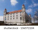 Stary Hrad - ancient castle in Bratislava, Slovakia - stock photo