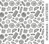 black and white seamless... | Shutterstock .eps vector #1365723833