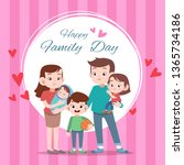 happy family day card greeting... | Shutterstock .eps vector #1365734186
