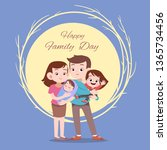 happy family day card greeting... | Shutterstock .eps vector #1365734456