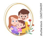 happy family day card greeting... | Shutterstock .eps vector #1365734459