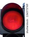 the red semaphore light close...   Shutterstock . vector #136573769