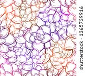 colorful succulents vector...   Shutterstock .eps vector #1365739916
