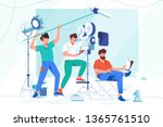 flat young men with beard and... | Shutterstock .eps vector #1365761510
