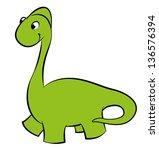 illustration of a green dinosaur | Shutterstock . vector #136576394