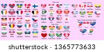 set of flags of world sovereign ... | Shutterstock .eps vector #1365773633