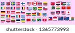 set of flags of world sovereign ...   Shutterstock .eps vector #1365773993