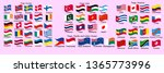 set of flags of world sovereign ... | Shutterstock .eps vector #1365773996