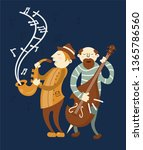 music players jazz concert... | Shutterstock .eps vector #1365786560