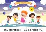 vector illustration of fantasy... | Shutterstock .eps vector #1365788540