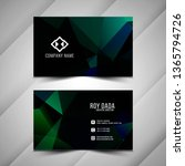 abstract visiting card stylish...   Shutterstock .eps vector #1365794726