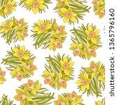 beautiful arrangement of spring ... | Shutterstock .eps vector #1365796160