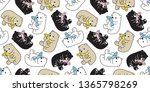 bear seamless pattern polar... | Shutterstock .eps vector #1365798269